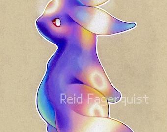 Colorful Umbreon art PRINT