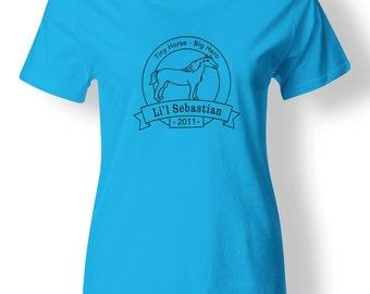 """Parks and Rec - Li'l Sebastian shirt for women **Add 4 - 1"""" buttons!**"""
