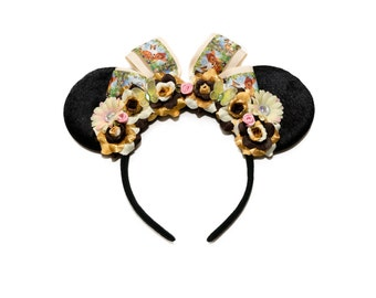 Young Prince Mouse Ears Headband, Fawn Mouse Ears, Flower Mouse Ears, Minnie Ears Headband, Mickey Ears Headband, Fawn Headband, Fawn Ears