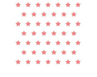 Stars Pattern Stencil, Star Cookie Stencil, Star Fondant Cookie, Star Sugar Cookie, Stars Cake Stencil, 5.5 x 5.5, 4th of July Stencil