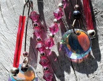 Austrian Crystal 3 Dangle Sun Catcher Earrings ~ Rainbow Sun Catcher ~ Glass Prisms