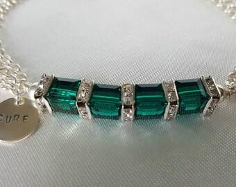 Bone Marrow Transplant Awareness Bracelet With Swarovski Crystals