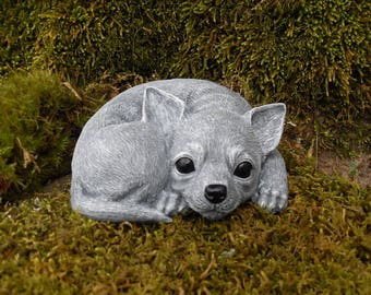 Items similar to Chihuahua Statue Angel Dog Memorial Sculpture
