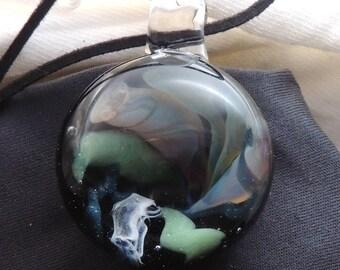Handmade Lampwork Glass Vortex Technique Pendanrt