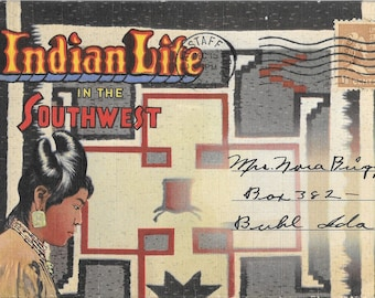 Vintage Indian Life In The Southwest Accordion Postcard Booklet Hopi Pueblo