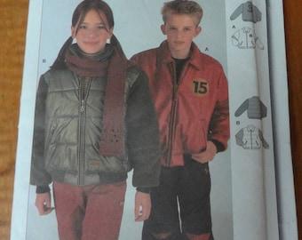 UNCUT Burda 9924 Childrens Jacket Pattern Sizes 9-10-11-12-13-14