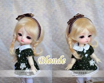 bjd doll girl wig L-M8 (5 colors) for lati yellow fl pukifee