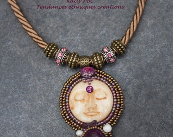 "Embroidered necklace ""Aninda"""