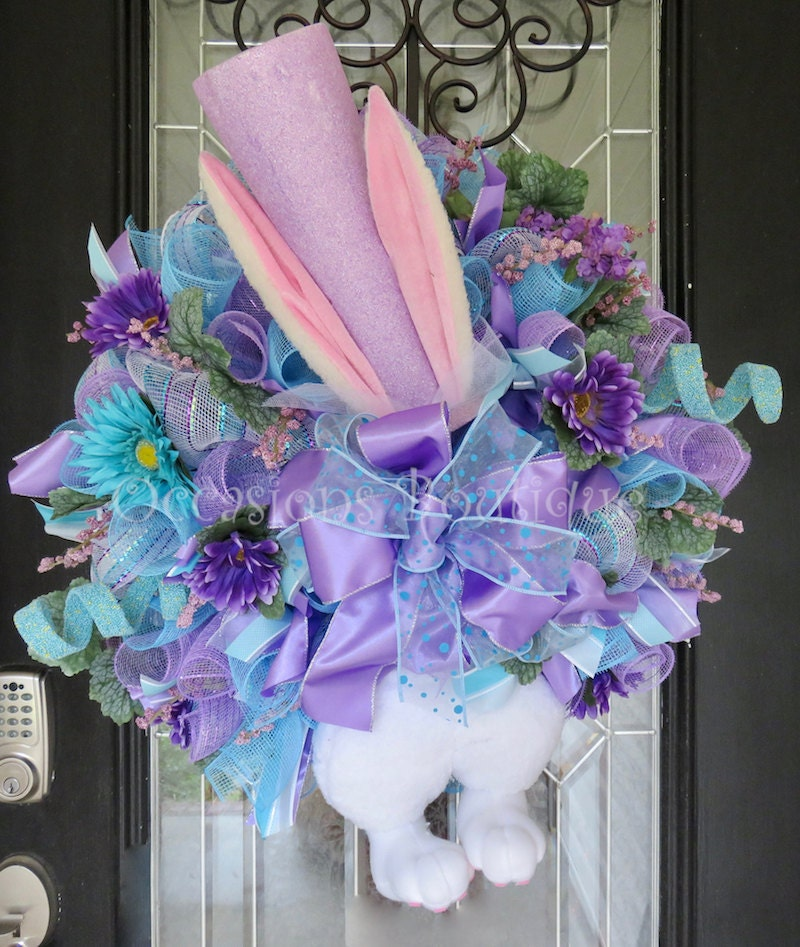 Easter Wreath Spring Wreath Easter Bunny By Occasionsboutique