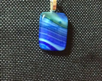 Ocean Inspired Glass Pendant