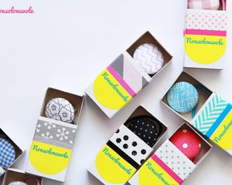 Hair elastics with gift box.