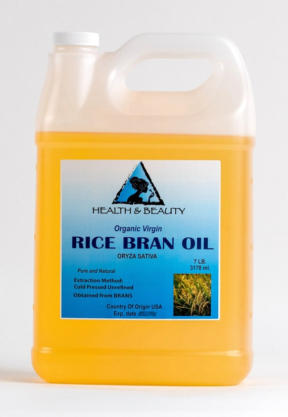 7 Lb 1 gal RICE BRAN OIL Organic Carrier Unrefined Cold