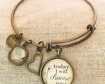 Today I Will Choose Joy Bangle