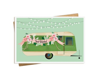 Just Hitched Wedding Card