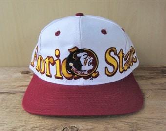 Florida State SEMINOLES Original Vintage Logo 7 Wrap Around Official NCAA Snapback Hat Licensed Collegiate Team Embroidered Sports Cap