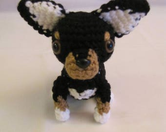CHIHUAHUA - Crochet Amigurumi - Crochet Dog, Crochet Puppy - BLK/BRN