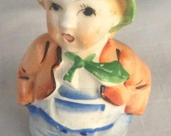 Vintage Japan Hummel like figurine boy porcelain