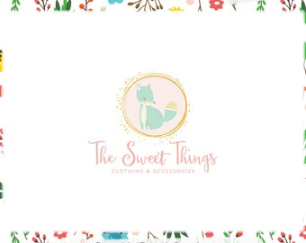 Fox Premade Logo Design - Web & Print Files + Watermarks - Limited Edition! Perfect For Boutique, Photographer, Handmade Shop