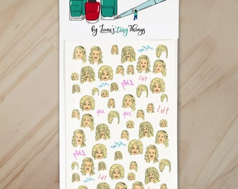 Queen of Country Handpainted Dolly Parton Nail Art Decals