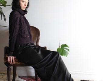 Black Silk Maxi Skirt