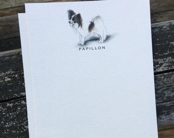Papillon Dog Note Card Set