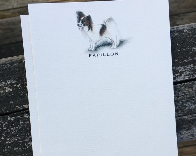 Papillon Dog Note Card Set
