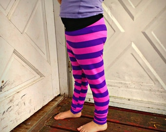 Cheshire Cat stripe Leggings joggers or harem pants baby/toddler/ kids