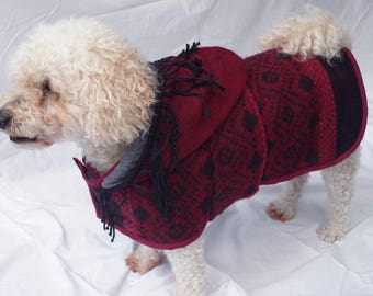 Indian Tassel Dog Hoodie - Small
