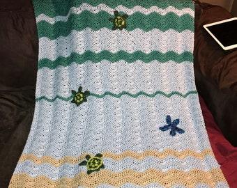 Ocean and Sea Turtles Blanket