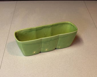 Goldammer Chartreuse Planter San Francisco Studio Pottery  Period Ceramic Mid Century Modern Perfect Vivid Color Green