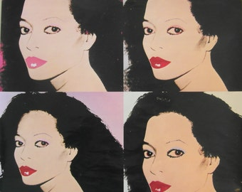 Original 1982 Diana Ross RCA Warhol/Pop Art Promotional Poster for the Album 'Silk'