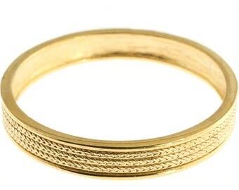 Braided Gold Plated Bangle Bracelet