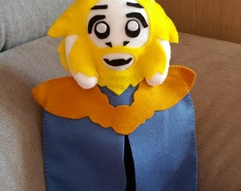 Felt handmade plush Asgore (unofficial) from Undertale, felt plushie,Asgore plush,Undertale plush,asgore stuffed toy,asgore toy