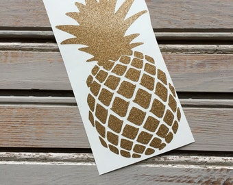 Pineapple Decal // Pineapple Car Decal // YETI Decal // Window Decal // Notebook Decal // Laptop Decal // beach decal // girls gift //