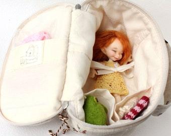 BJD travelbag / Sleeping Protective for dolls format Pukipuki, RealPuki, Lati White, Lati White SP, etc.