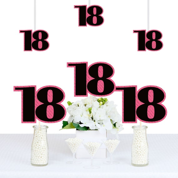 Il_570xn  sc 1 st  Catch My Party & Chic 18th Birthday - Pink Black and Gold - DIY Birthday ...