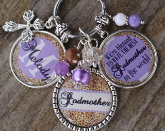 PERSONALIZED GODMOTHER GIFT,  Personalized GodMother Key Chain, Personalized God Mother Gift, Personalized Godparent Key Chain, Godmothers
