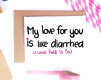 Funny Valentine Card, Dirty Valentine Card, Adult Valentine Card