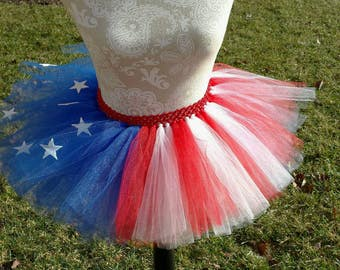 4th of July Tutu, Patriotic Tutu, American Flag Tutu, 4th of July Outfit, Red White and Blue Tutu, Summer Tutu, Birthday Tutu, Toddler Tutu