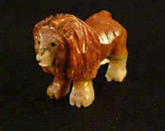 Hand-Carved Soapstone Lion