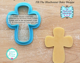 Rounded Cross Cookie Cutter & Fondant Cutter by The Bluebonnet Bake Shoppe