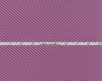 Purple Striped Fabric, Tone on Tone Purple Bias Stripe Quilt Fabric, Moda Basic Mixologie 33025 19 Studio M, Diagonal Purple Fabric, Cotton