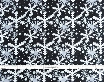 Gray & Black Snowflake Fabric, In The Beginning Fabric,  Its Christmas 7JHF3 Jennifer Heynen, Black Snowflake Quilt Fabric, Christmas Cotton