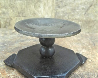 Hand Forged Candle Holder blacksmith made, unique iron art for your decor.  Great Anniversary or Housewarming Gift Idea