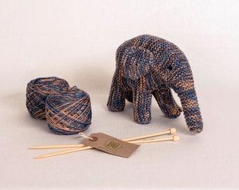Bamboo Animal Knitting Kit DIY - Elephant