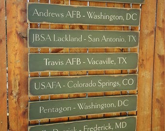 """Personalized Carved Wooden Sign - """"Military Family - Everyday Is a Journey, and the Journey Is Our Home"""""""