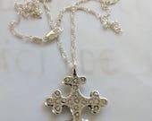 Necklace - Crusader Cross - Sterling Silver - 29x36mm + 18 inch chain