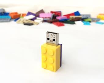 Lego usb flash drive 16GB USB - Memory Stick -  Lego® original usb Brick - Lego® 2x3 Brick - Lego® usb in original piece - Yellow brick usb