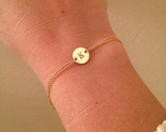 Monogram bracelet, gold bracelet, Personalized bracelet, initials, name jewelry, bridal, wedding jewelry, gift, bridesmaid