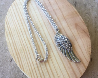 Long Necklace, Layering Necklace, Angel Wing Jewelry, Bohemian Jewelry, Gift For Her, Ready To Ship, Under Ten Dollars, Stocking Stuffer